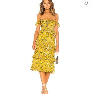 Tularosa Lily dress in yellow dolly floral
